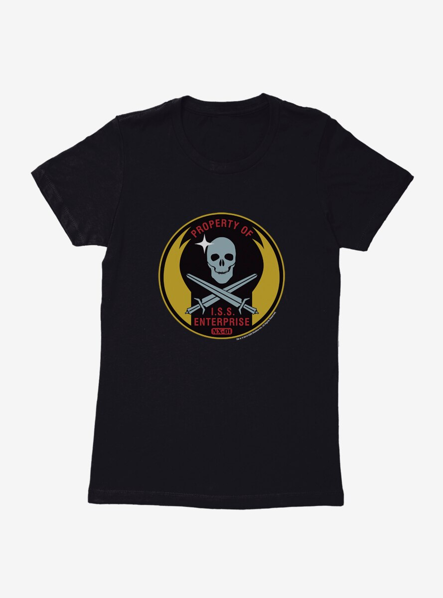 Star Trek Property Of ISS Enterprise Womens T-Shirt