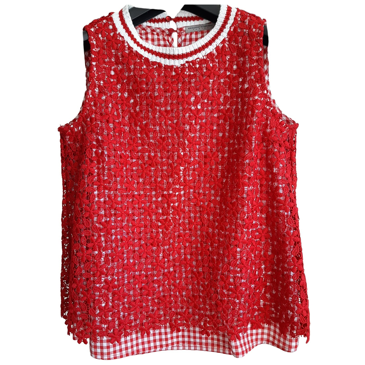 Ermanno Scervino \N Red Cotton  top for Kids 12 years - XS FR