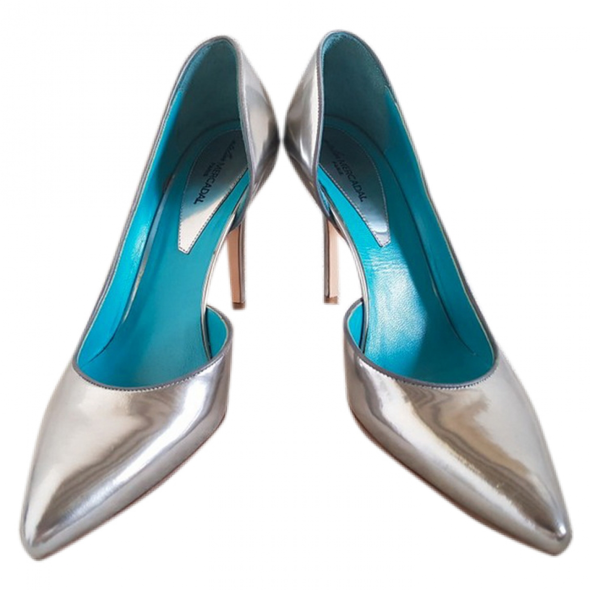 Atelier Mercadal \N Silver Patent leather Heels for Women 37 EU