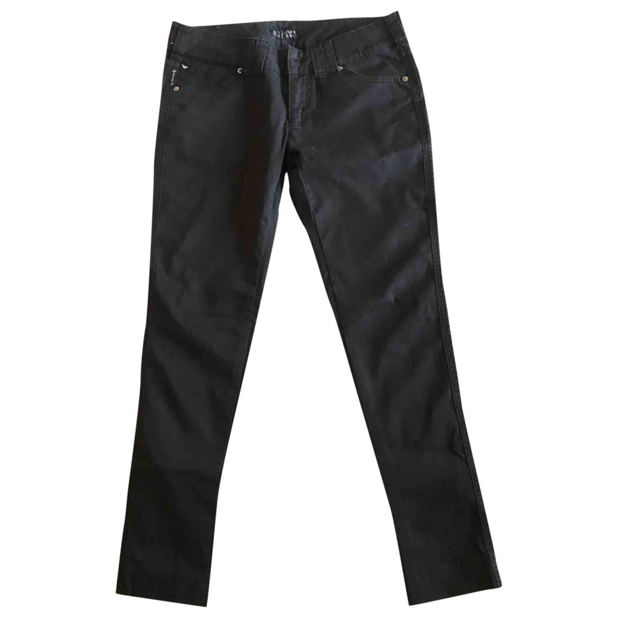 Armani Jeans \N Black Cotton - elasthane Jeans for Women 28 US
