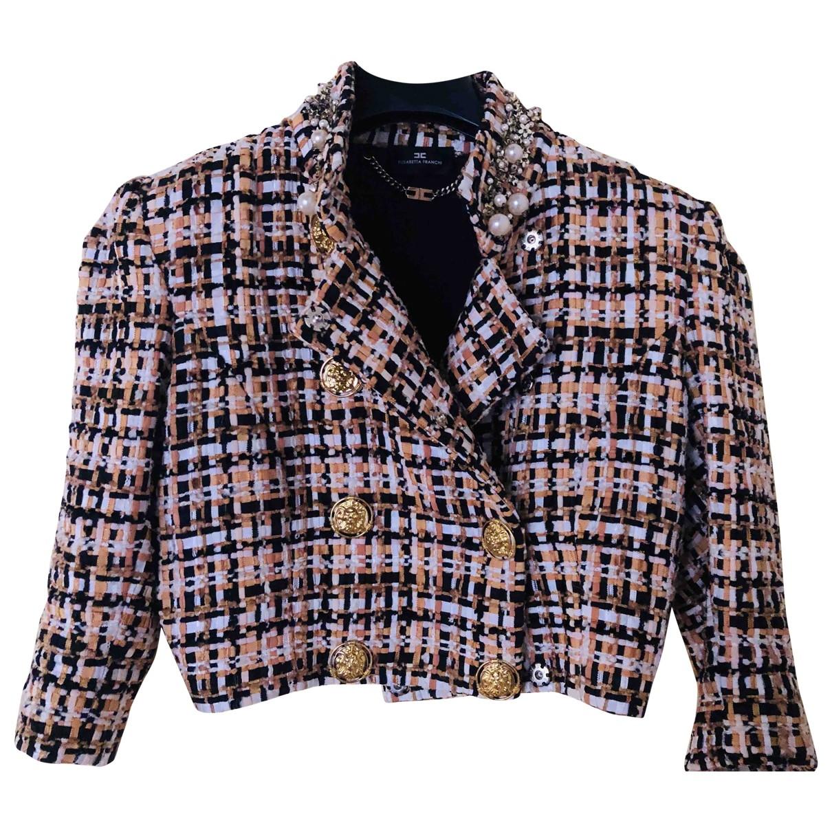 Elisabetta Franchi \N Multicolour Tweed jacket for Women 38 IT