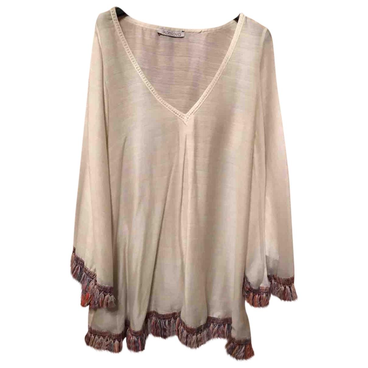 Non Signé / Unsigned \N Beige Cotton dress for Women L International