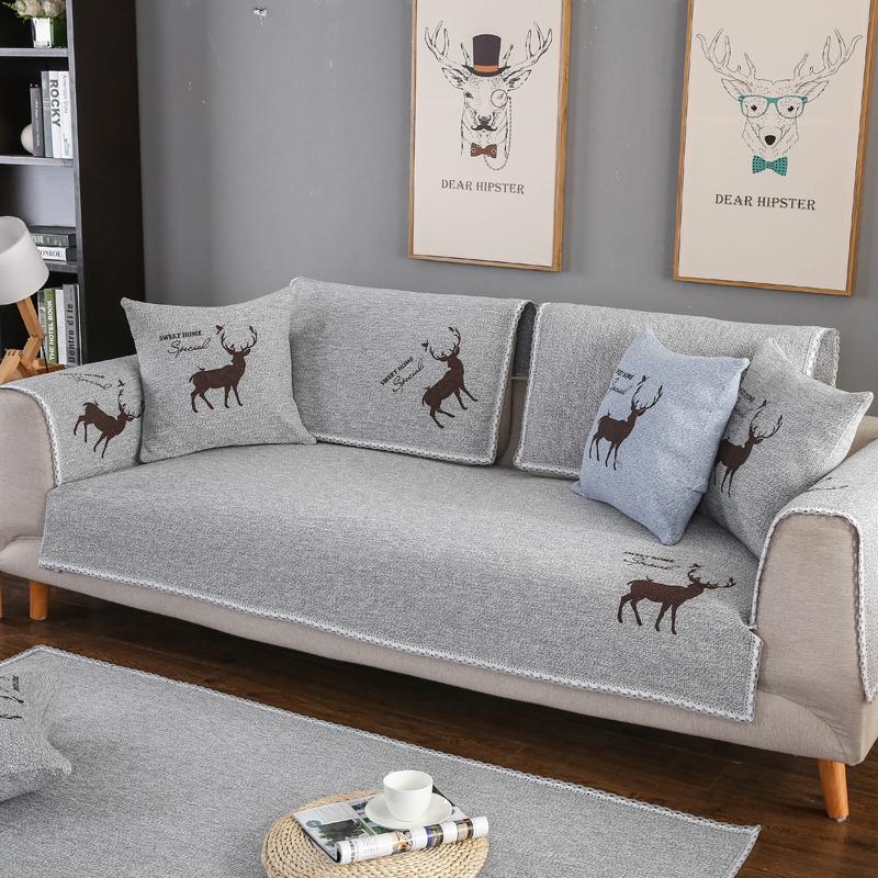 Nordic Style Geometric Pattern Soft Sofa Covers