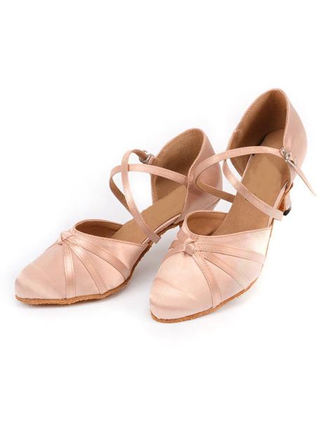 Milanoo Women's Black Buttons Ballroom Shoes
