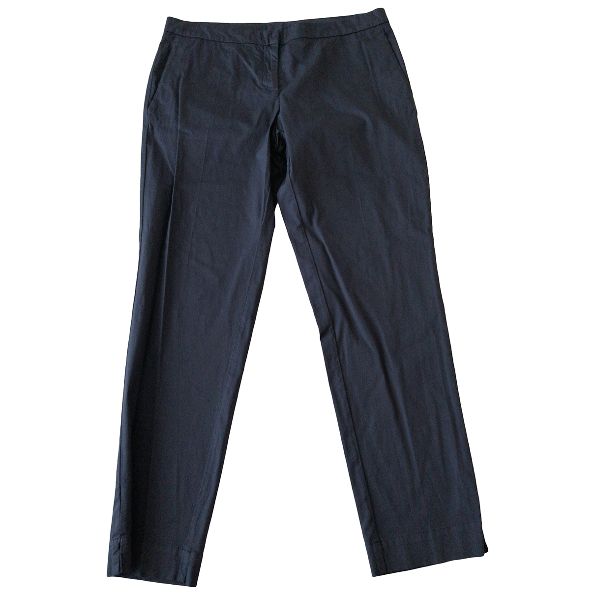 Non Signé / Unsigned \N Blue Cotton Trousers for Women 48 IT