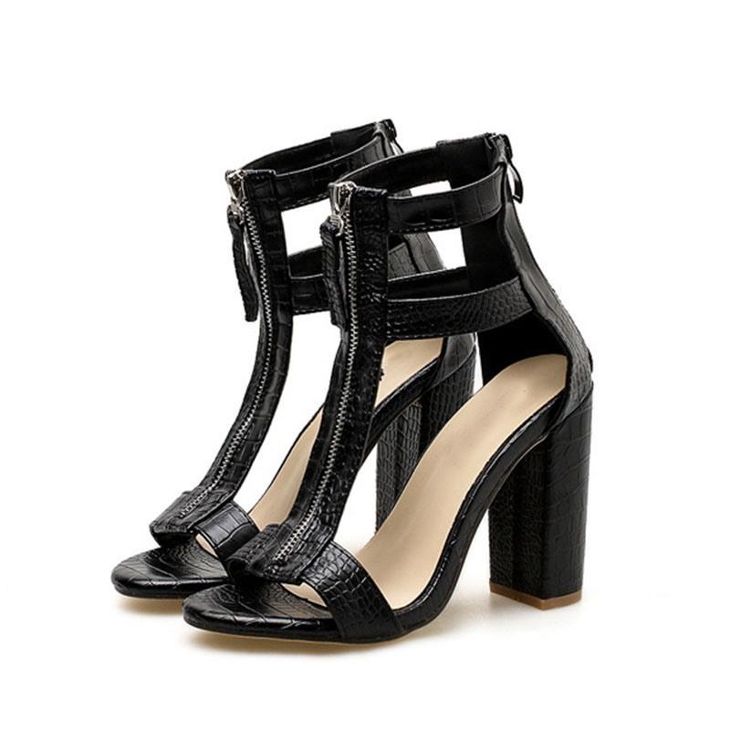 Ericdress Zipper Open Toe Heel Covering Casual Sandals
