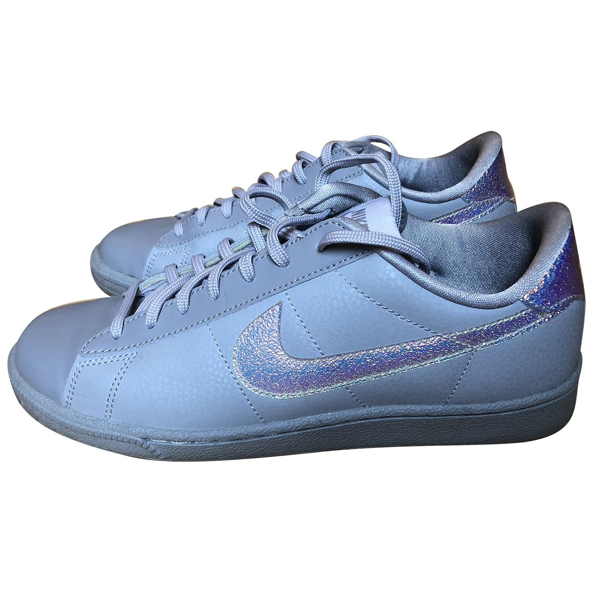 Nike Blazer Grey Leather Trainers for Women 38.5 EU