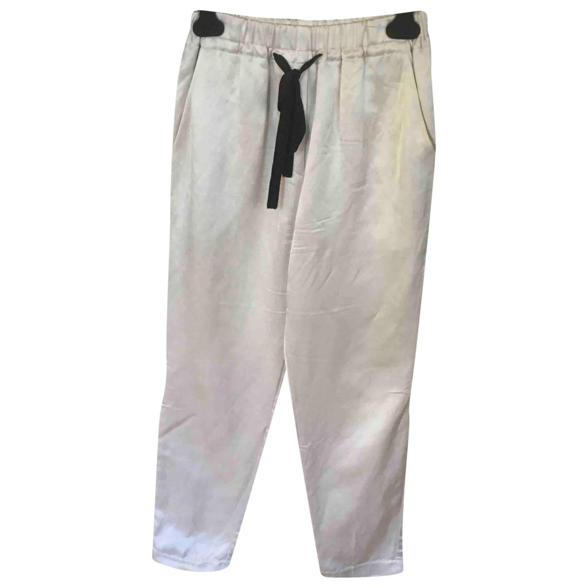 Forte_forte \N White Trousers for Women 36 FR