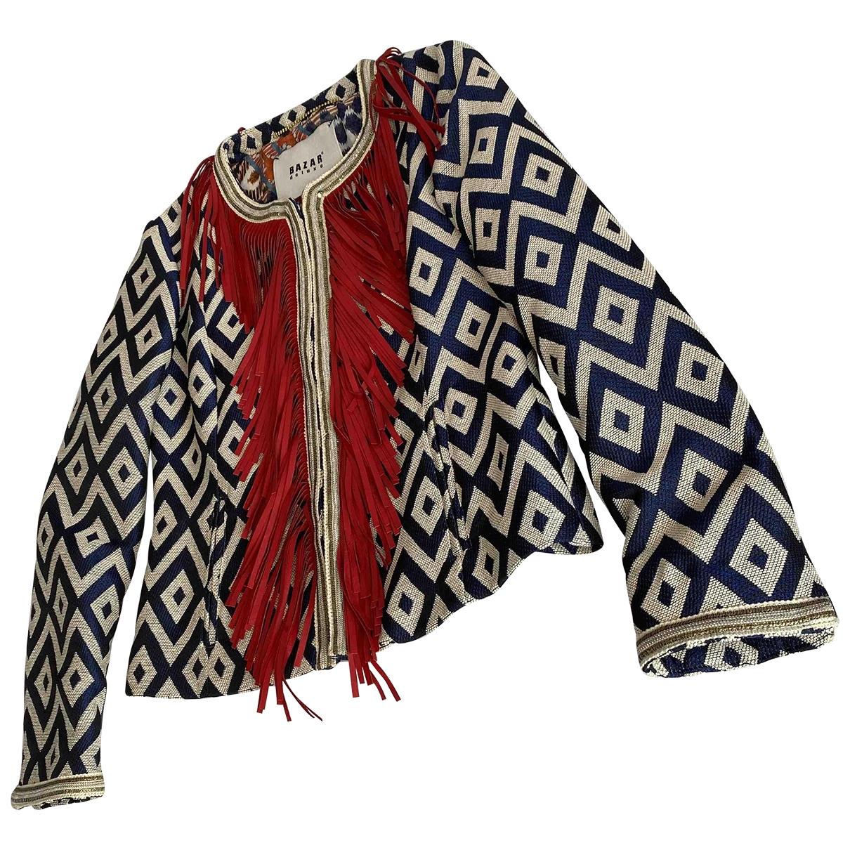 Bazar Deluxe \N Blue Cotton jacket for Women 40 IT