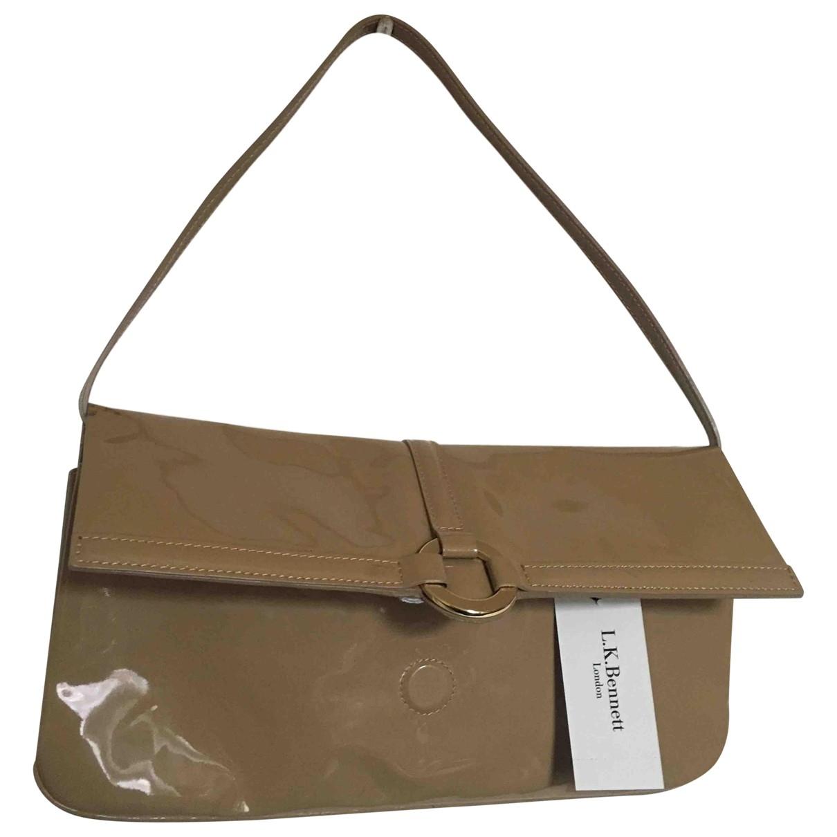 Lk Bennett \N Brown Patent leather Clutch bag for Women \N