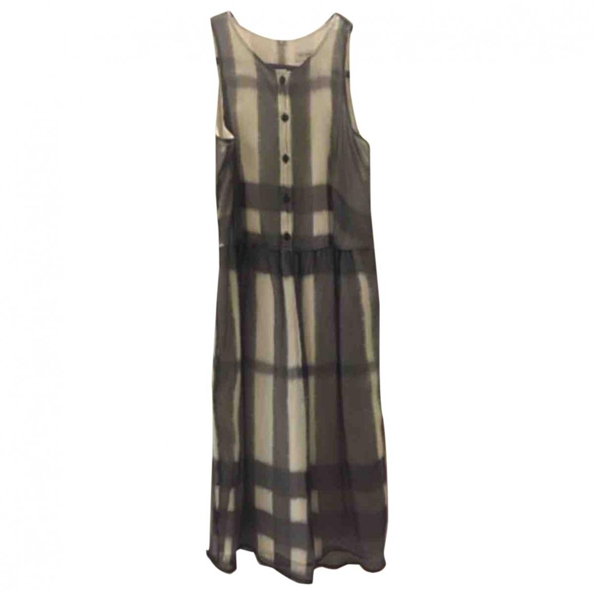 Burberry \N Grey Silk dress for Women 6 US