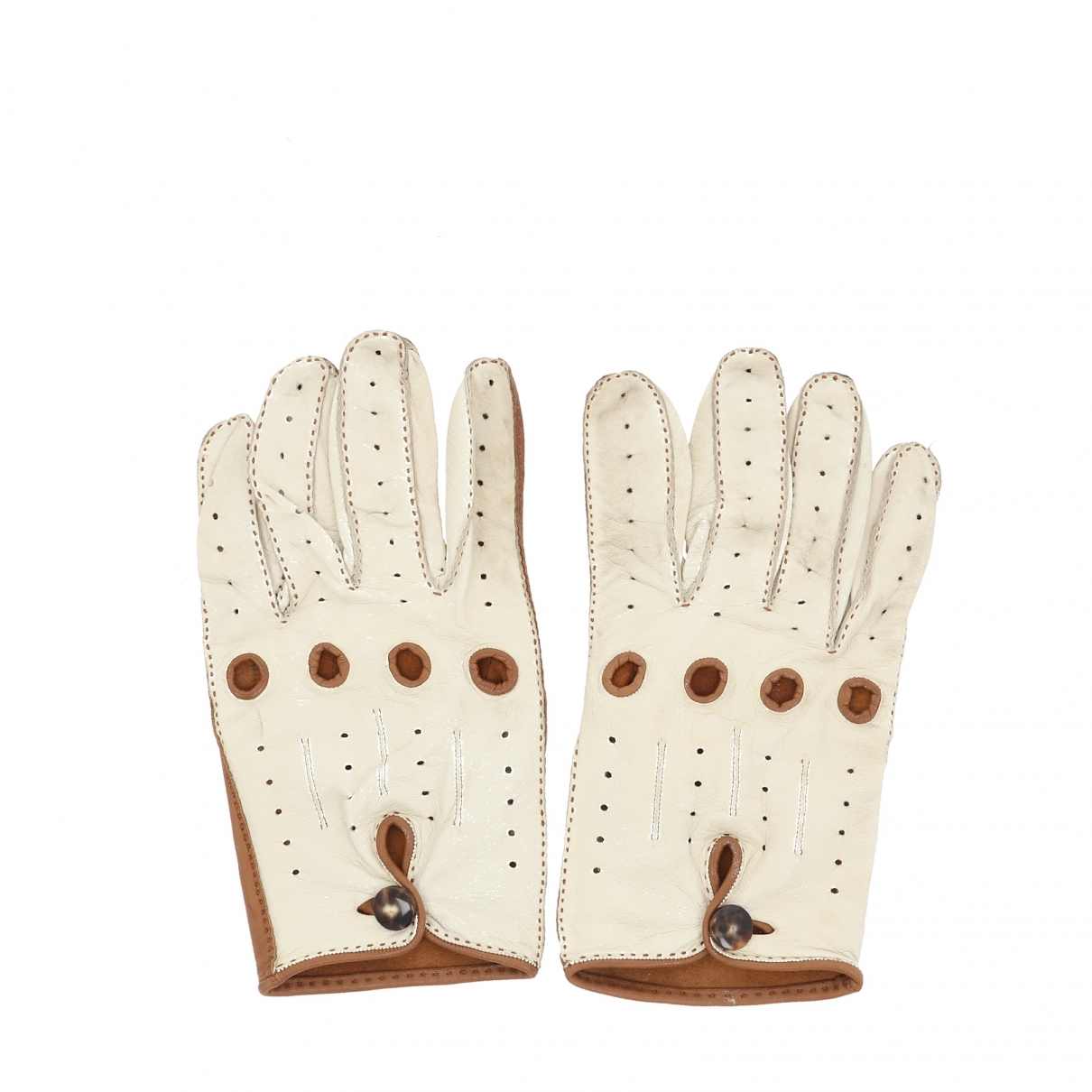 Hermès \N Brown Leather Gloves for Women 8 Inches