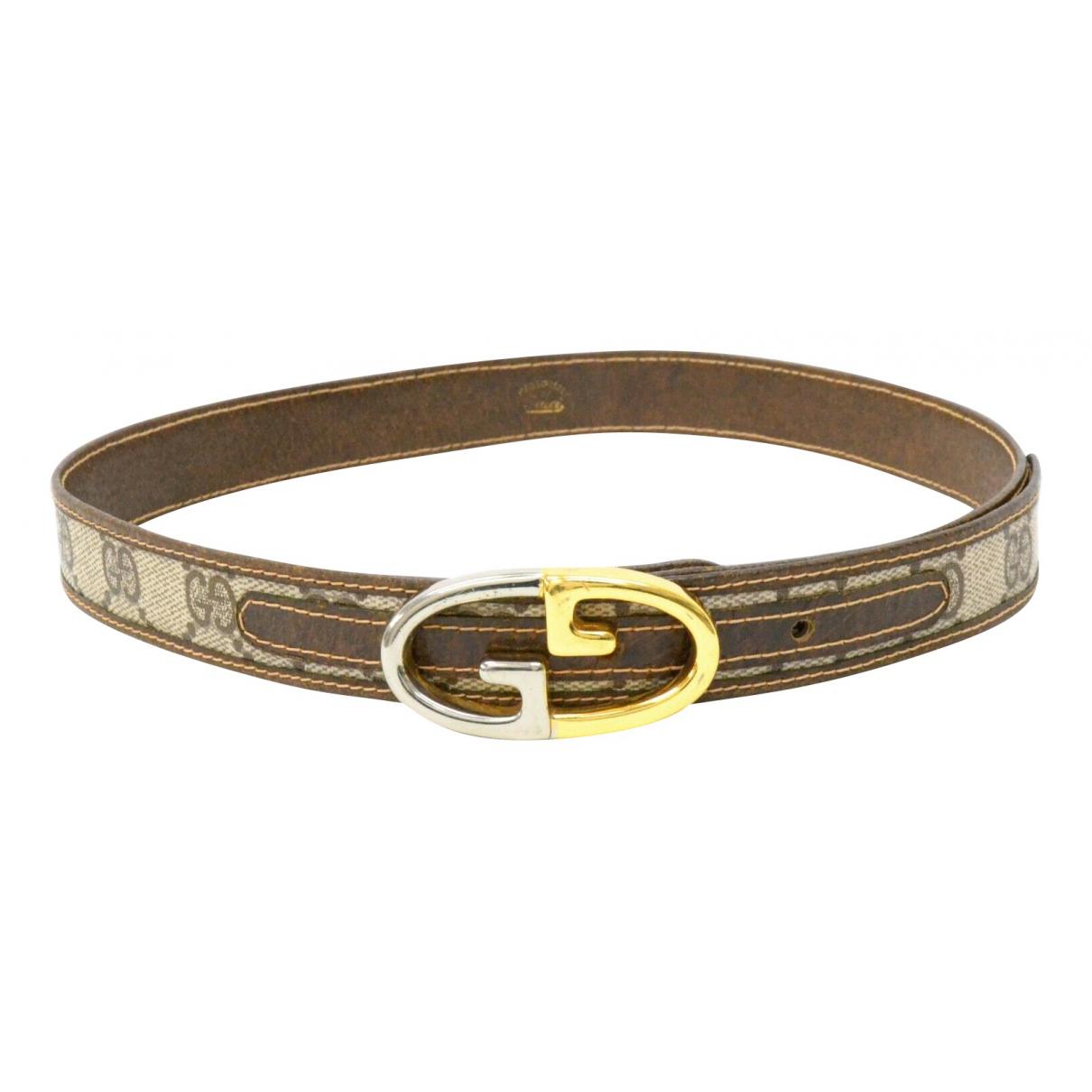 Gucci \N Brown Cloth belt for Women 70 cm
