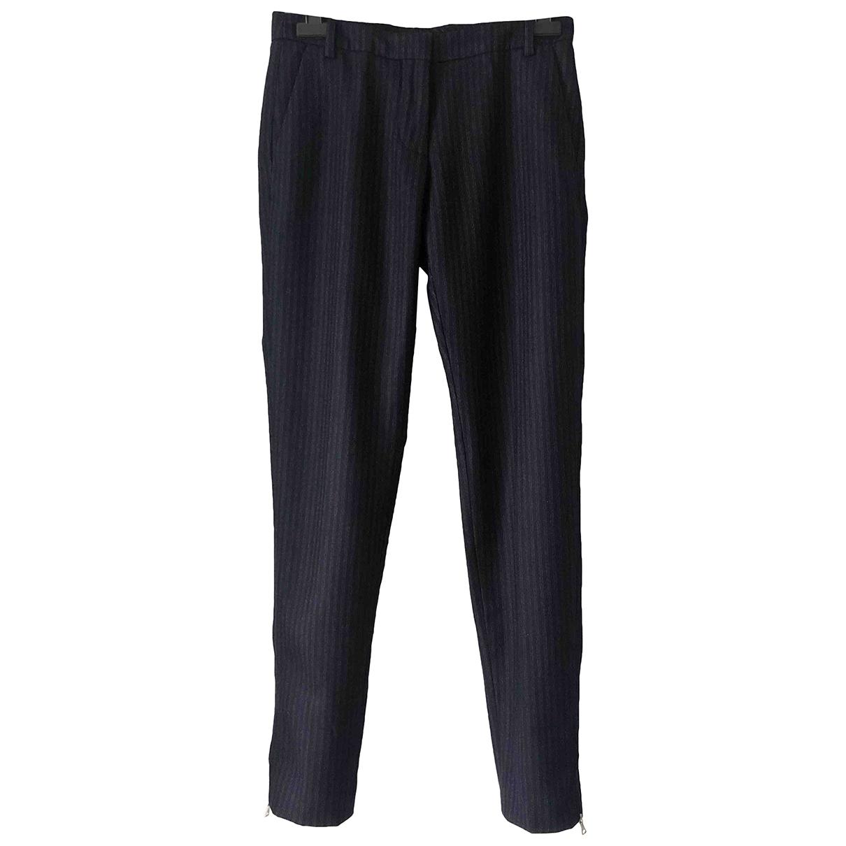 Dries Van Noten \N Navy Wool Trousers for Women 34 FR