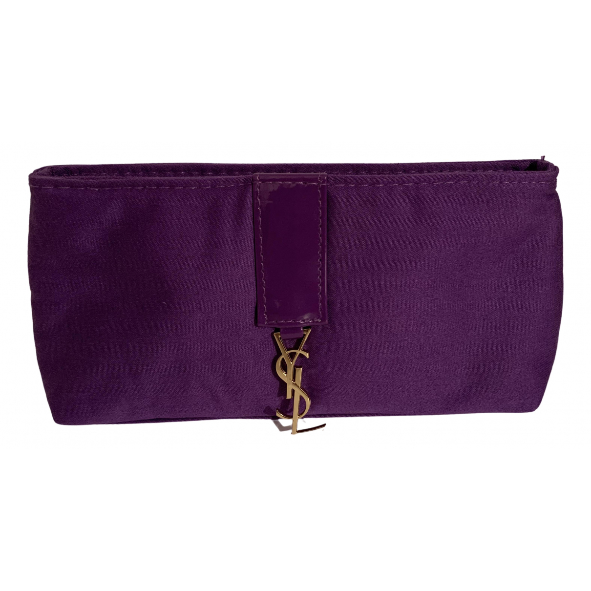 Yves Saint Laurent \N Purple Cotton Clutch bag for Women \N