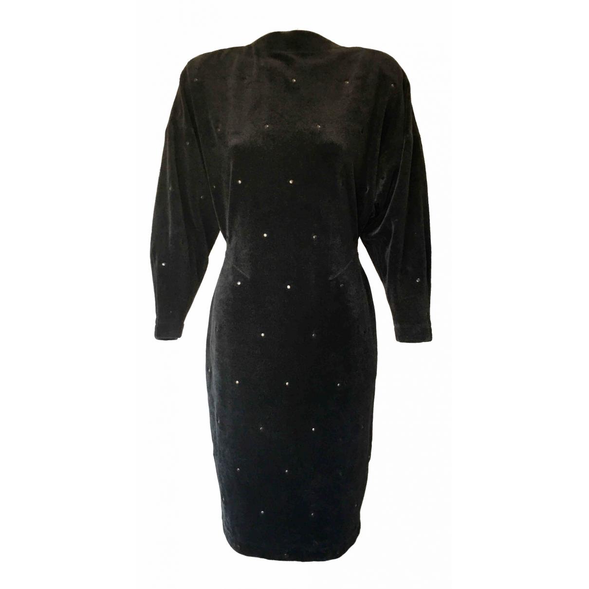 Alaïa \N Black Velvet dress for Women 40 FR