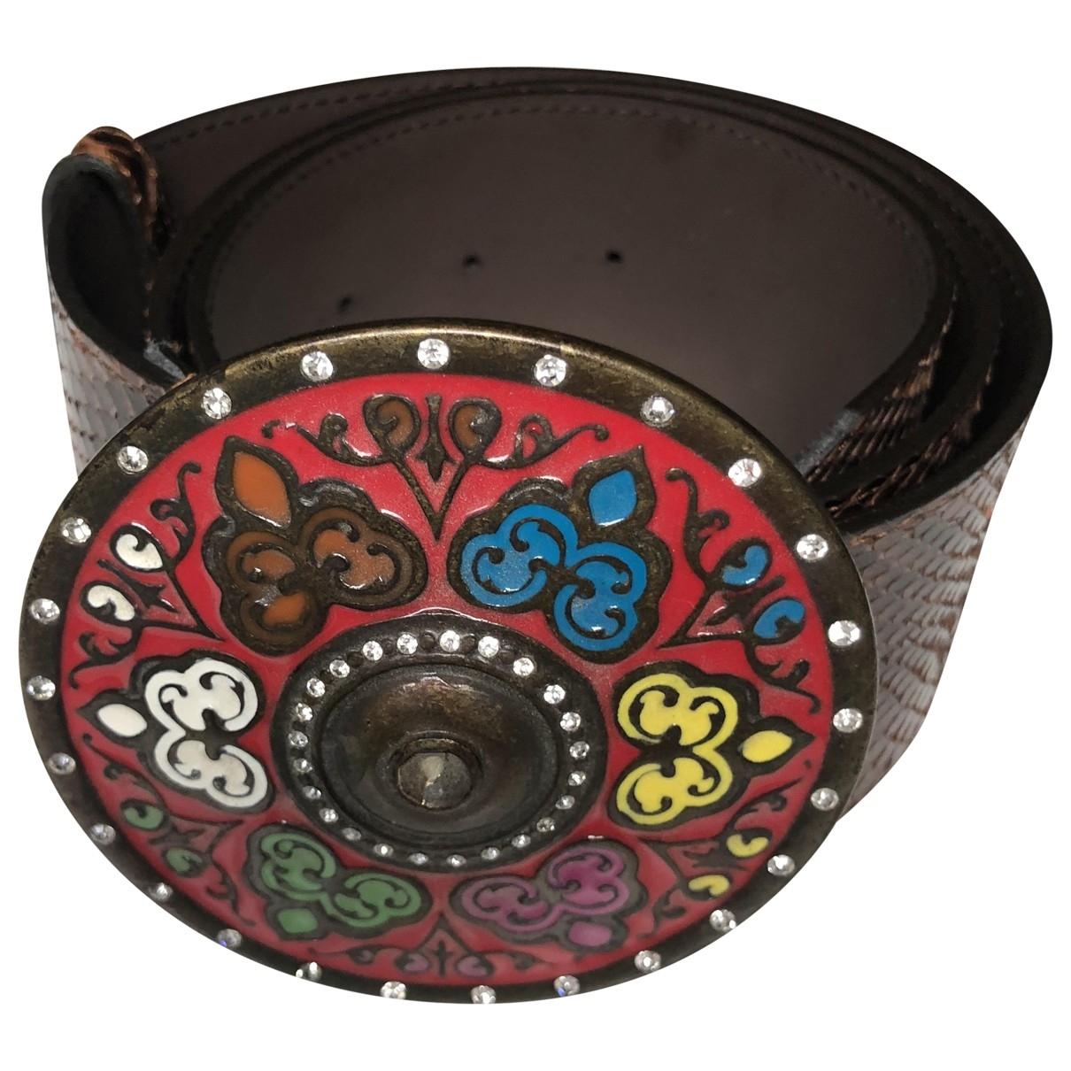 Blumarine \N Brown Exotic leathers belt for Women 80 cm