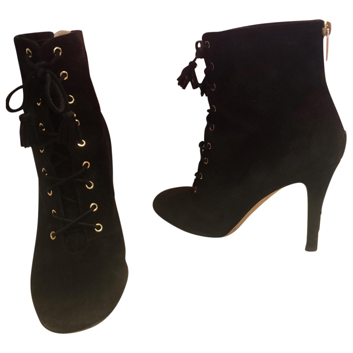 Jimmy Choo \N Black Suede Ankle boots for Women 38.5 EU