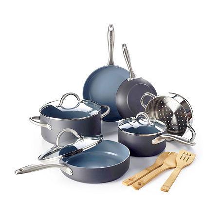 Lima HA Ceramic Nonstick 12-pc. Cookare Set, One Size , Gray