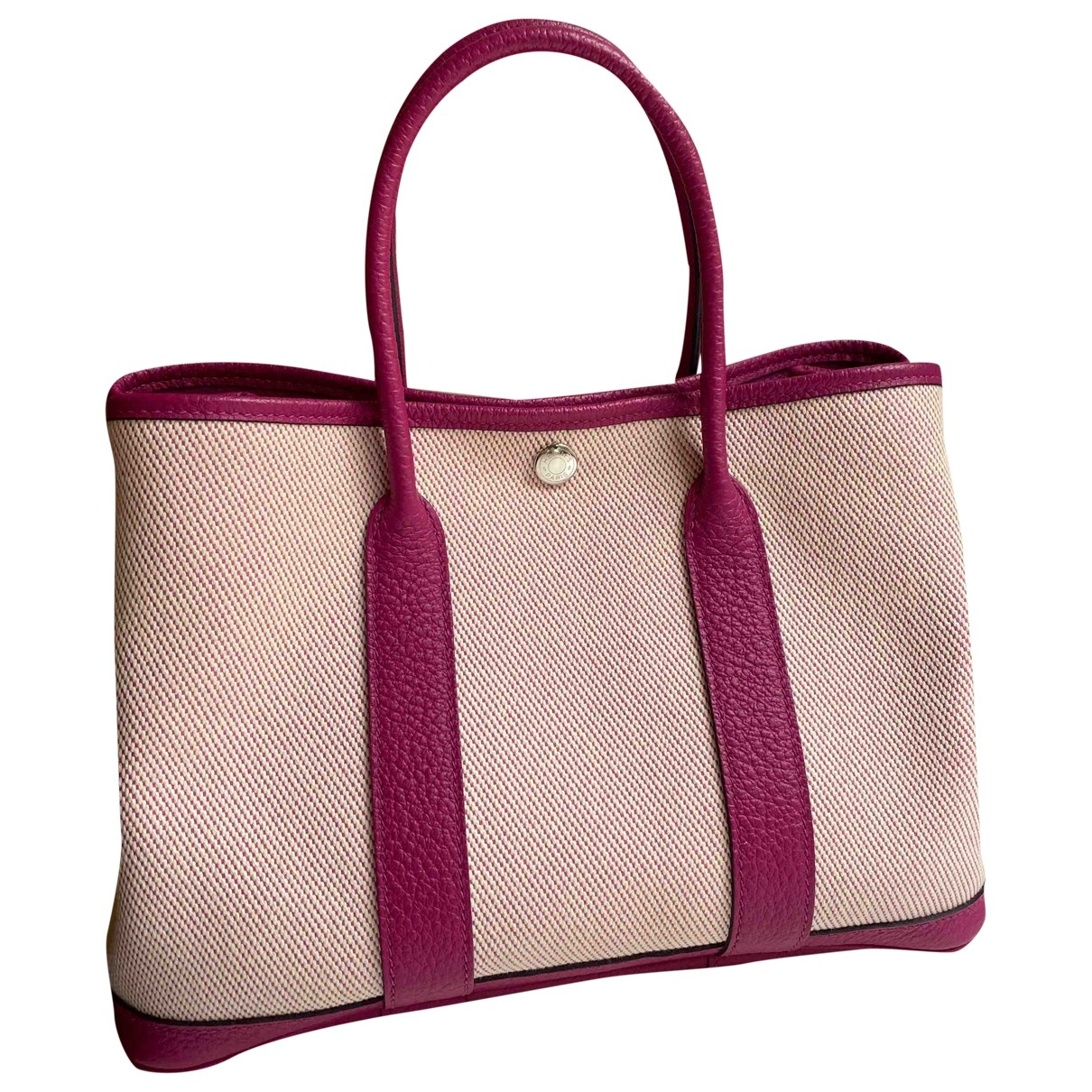 Hermès Garden Party Purple Linen handbag for Women \N