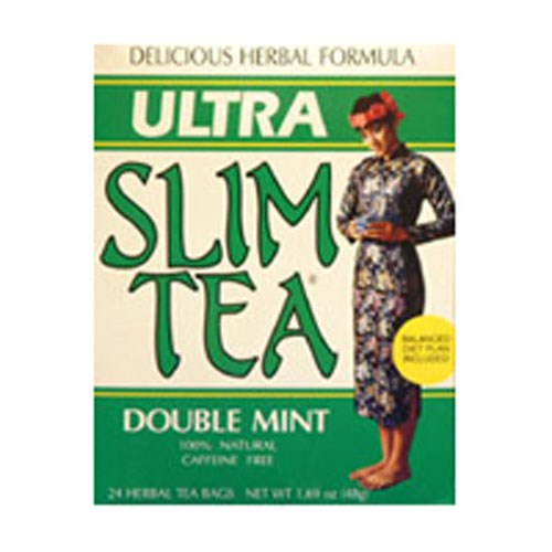 Ultra Slim Tea Double Mint 24 Bags by Hobe Labs
