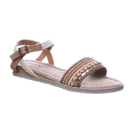 Bearpaw Womens Bali Flat Sandals, 8 Medium, Multiple Colors