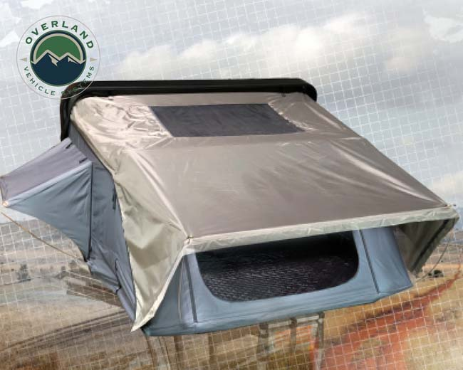 Overland Vehicle System 18089901 Bushveld Hard Shell Roof Top Tent 4 Person