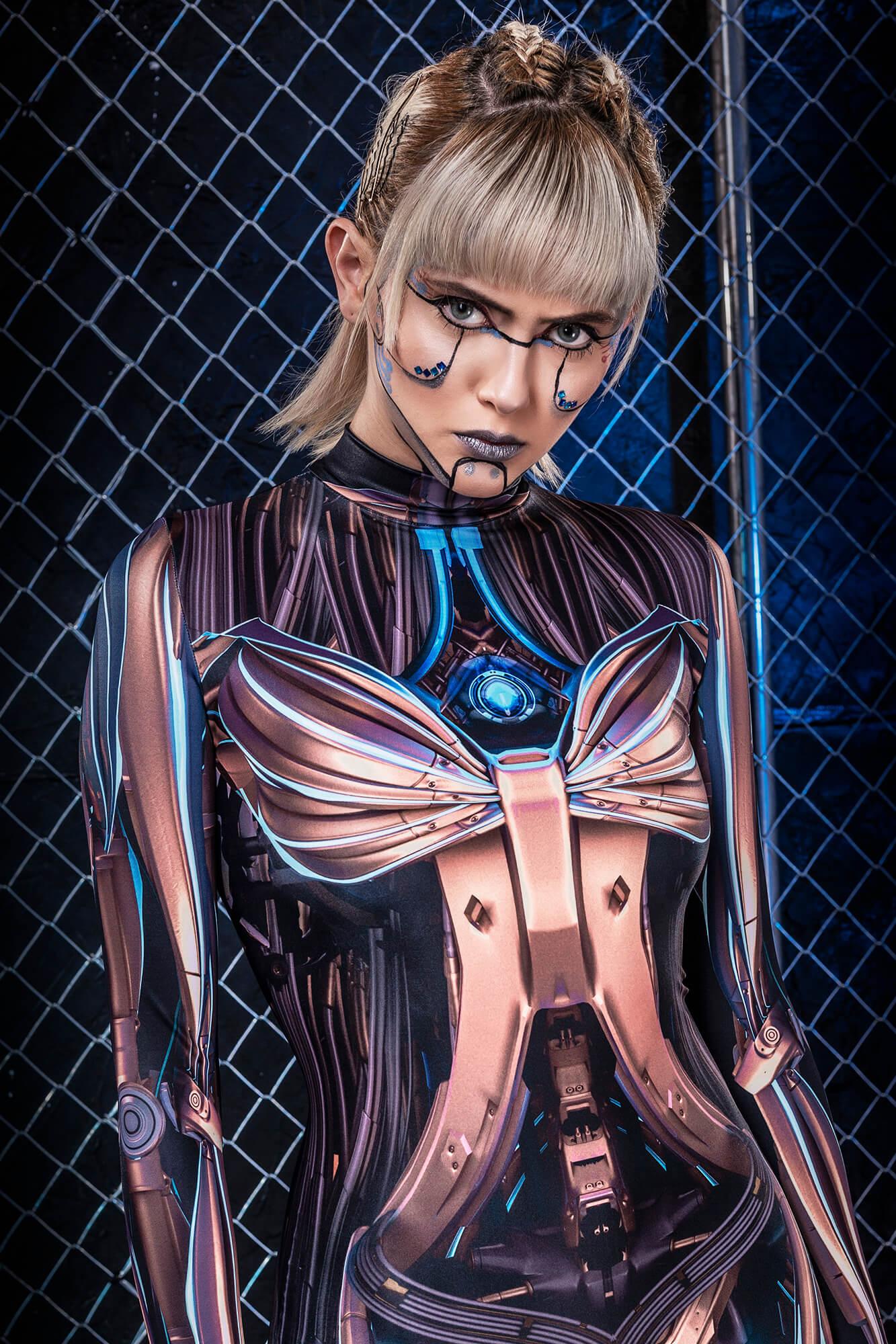 Robot Halloween Costumes Women - Sexy Woman Halloween Costumes 2019 - Glow in the Dark Bodysuit