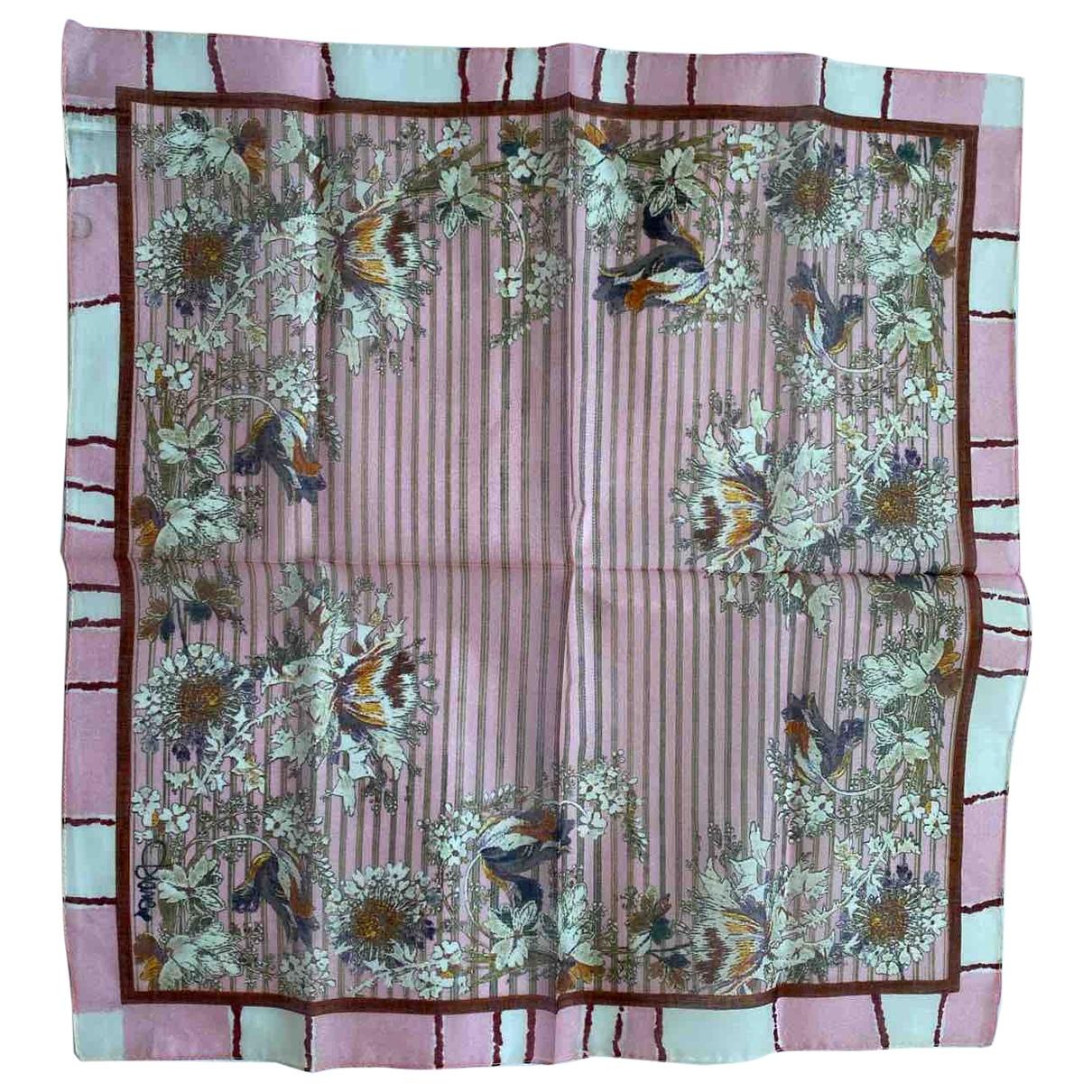 Diane Von Furstenberg \N Pink Cotton scarf for Women \N