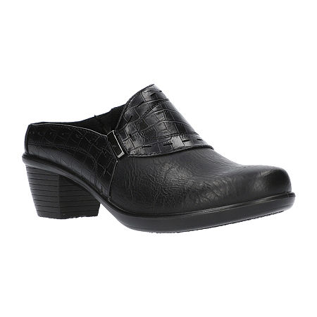 Easy Street Womens Cynthia Mules, 9 Wide, Black