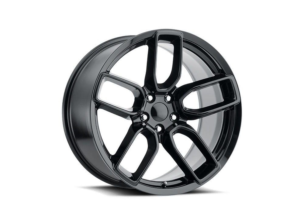Factory Reproduction Series 74 Wheels 20x10.5 5x115 +25 HB 71.5 Hellcat Widebody Gloss Black w/Cap