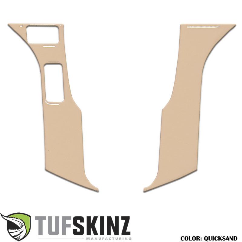 Tufskinz TAC037-GTN-G STEERING WHEEL TRIM WITH 2 BUTTONS Fits Toyota Models 2 Piece Kit Quicksand Tan