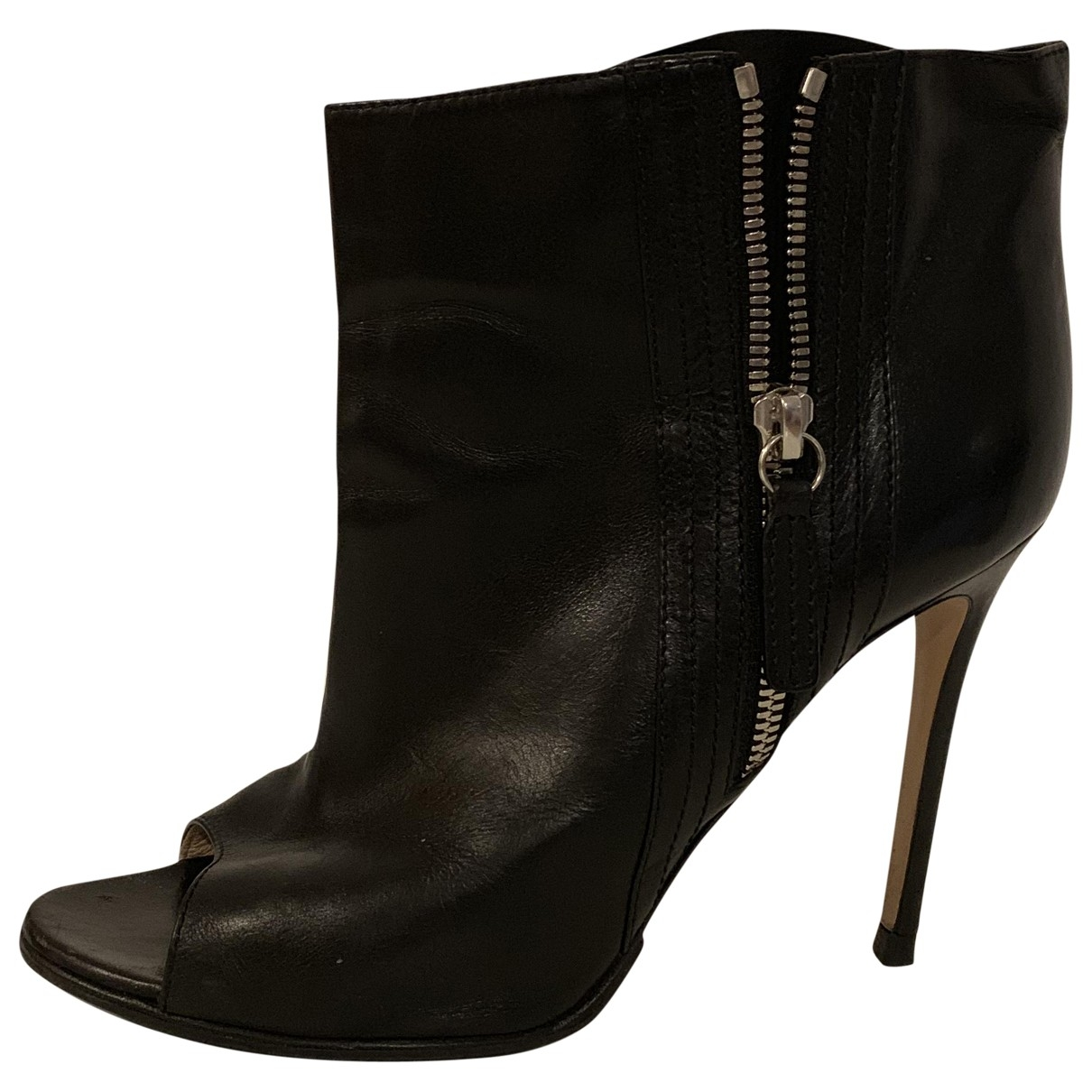 Gianvito Rossi \N Black Leather Ankle boots for Women 38 EU