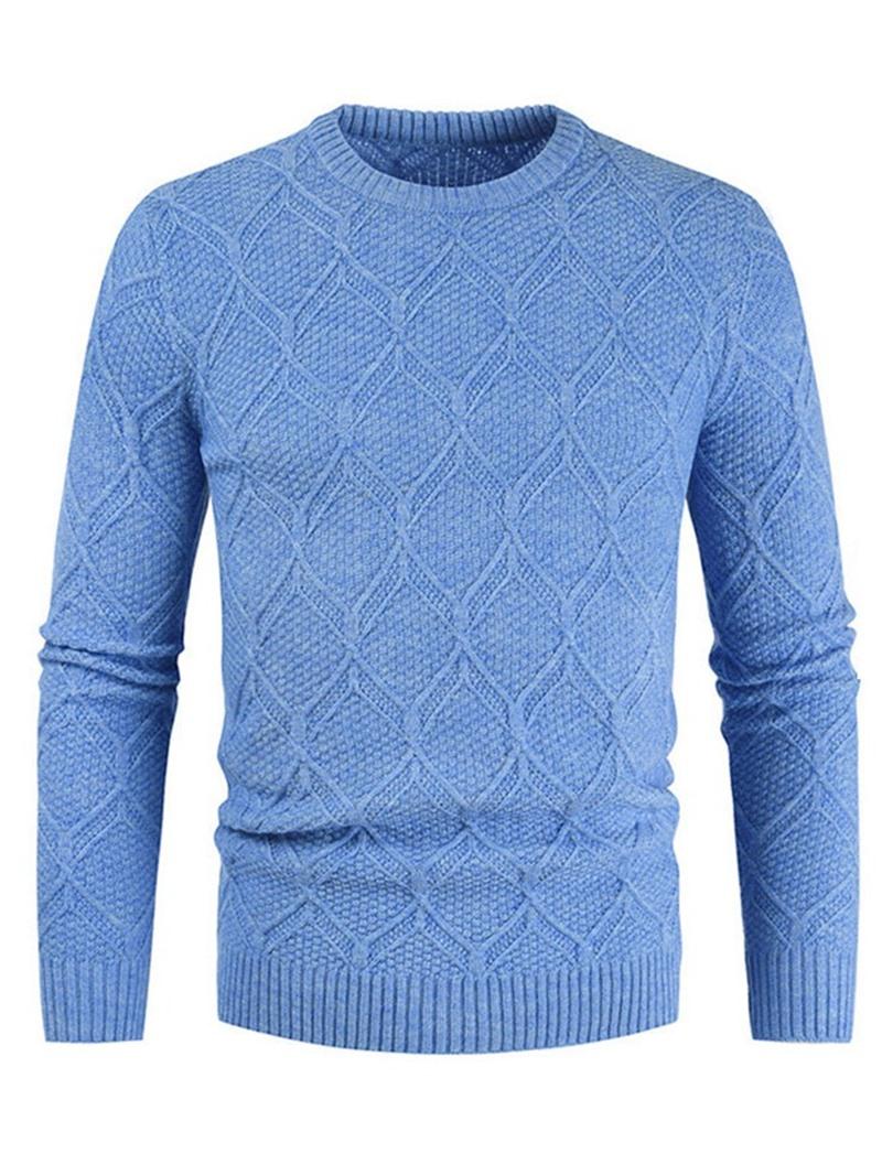 Ericdress Standard Plain Round Neck Slim Casual Sweater
