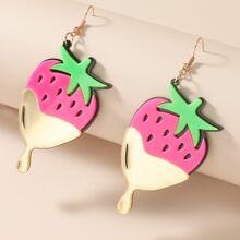 Strawberry Charm Drop Earrings
