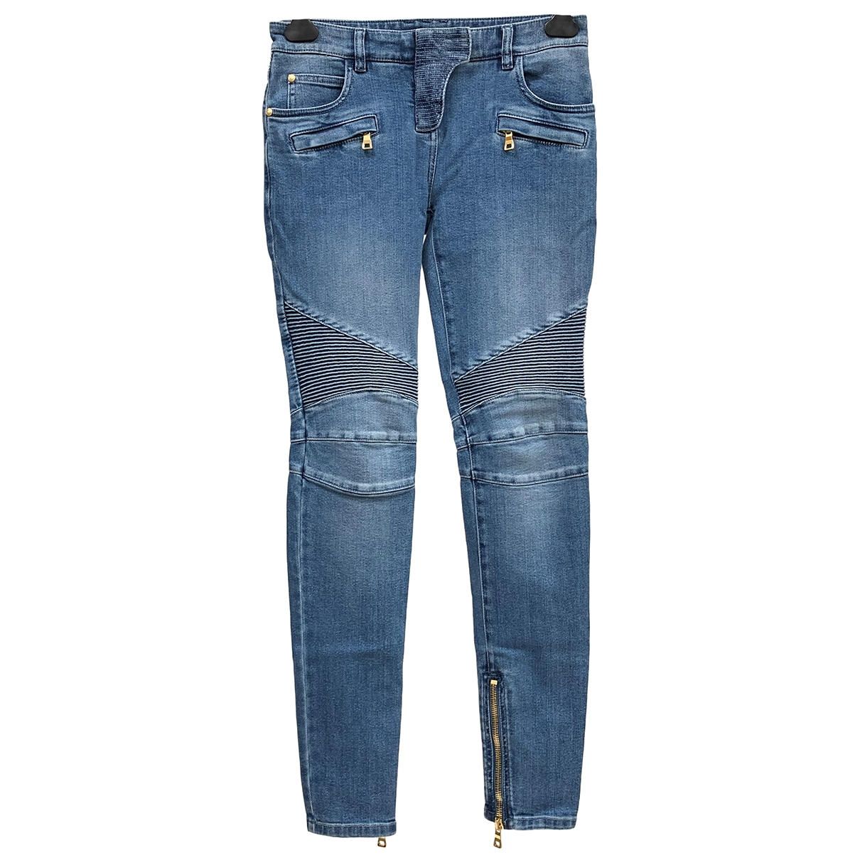Balmain \N Blue Cotton - elasthane Jeans for Women 38 FR