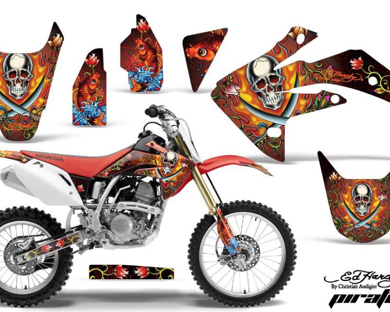 AMR Racing Dirt Bike Graphics Kit Decal Sticker Wrap For Honda CRF150R 2007-2016áEDHP RED
