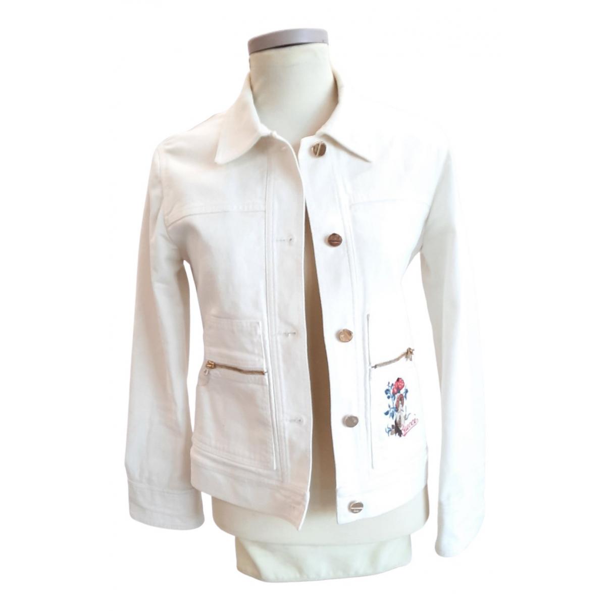 Gucci \N White Denim - Jeans jacket for Women 44 IT