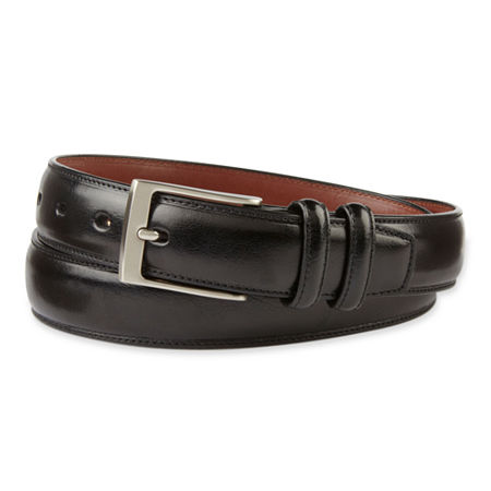 Stafford Double Leather Keeper Belt, 42 , Black