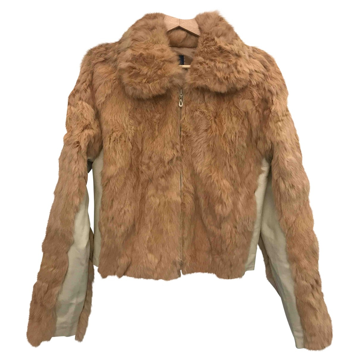 Non Signé / Unsigned \N Camel Rabbit coat for Women M International