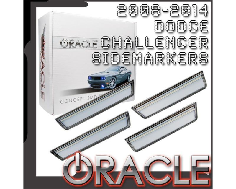 Oracle Lighting 9800-PBV-C Concept Sidemarker Set Blackberry Pearl - CLEAR Dodge Challenger 2008-2014