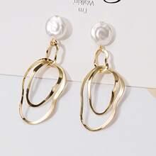 Geometric Link Drop Earrings
