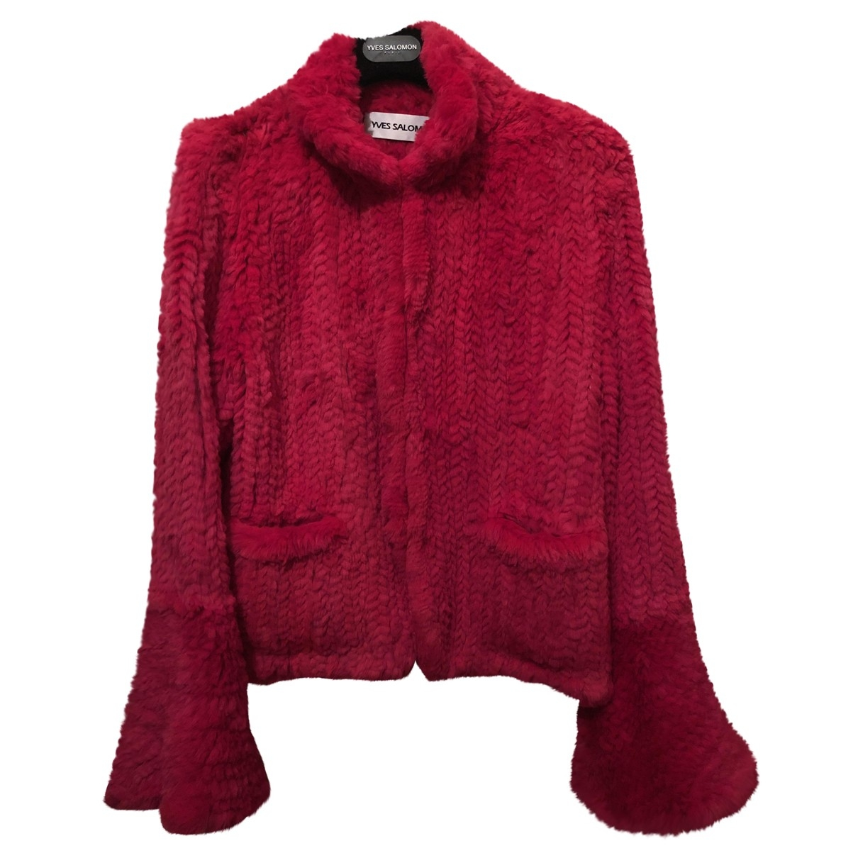 Yves Salomon \N Pink Rabbit jacket for Women 38 FR