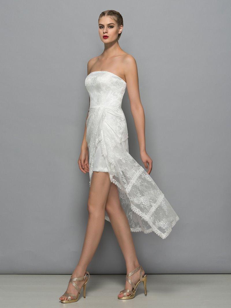 Ericdress Strapless Lace Column Cocktail Dress