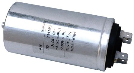 KEMET 100μF Polypropylene Capacitor PP 330 V ac, 600 V dc ±5% Tolerance Screw Mount C44A Series