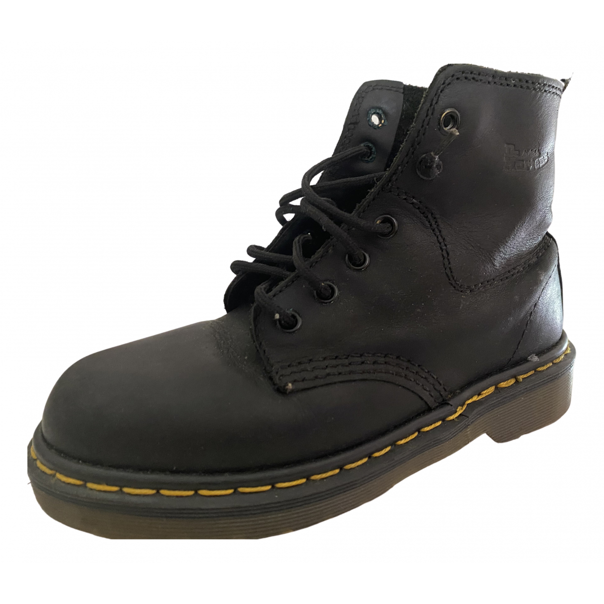 Dr. Martens \N Black Leather Ankle boots for Women 38 EU