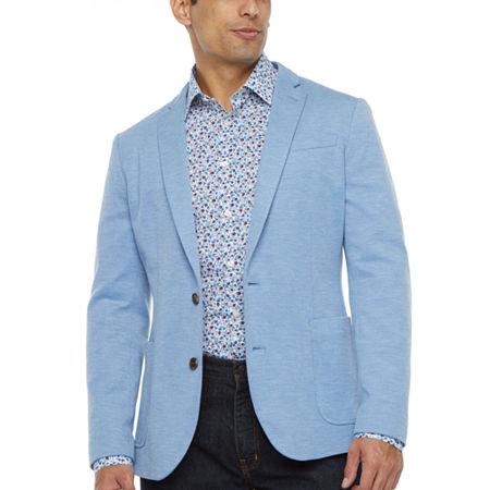 JF J.Ferrar Everyday 360 Mens Stretch Slim Fit Sport Coat, S (34-36) Short, Blue