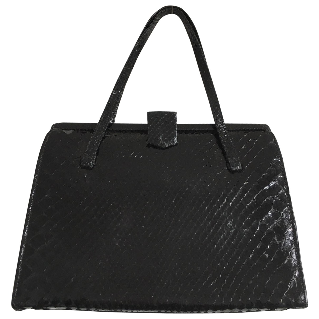 Non Signé / Unsigned \N Black Exotic leathers handbag for Women \N