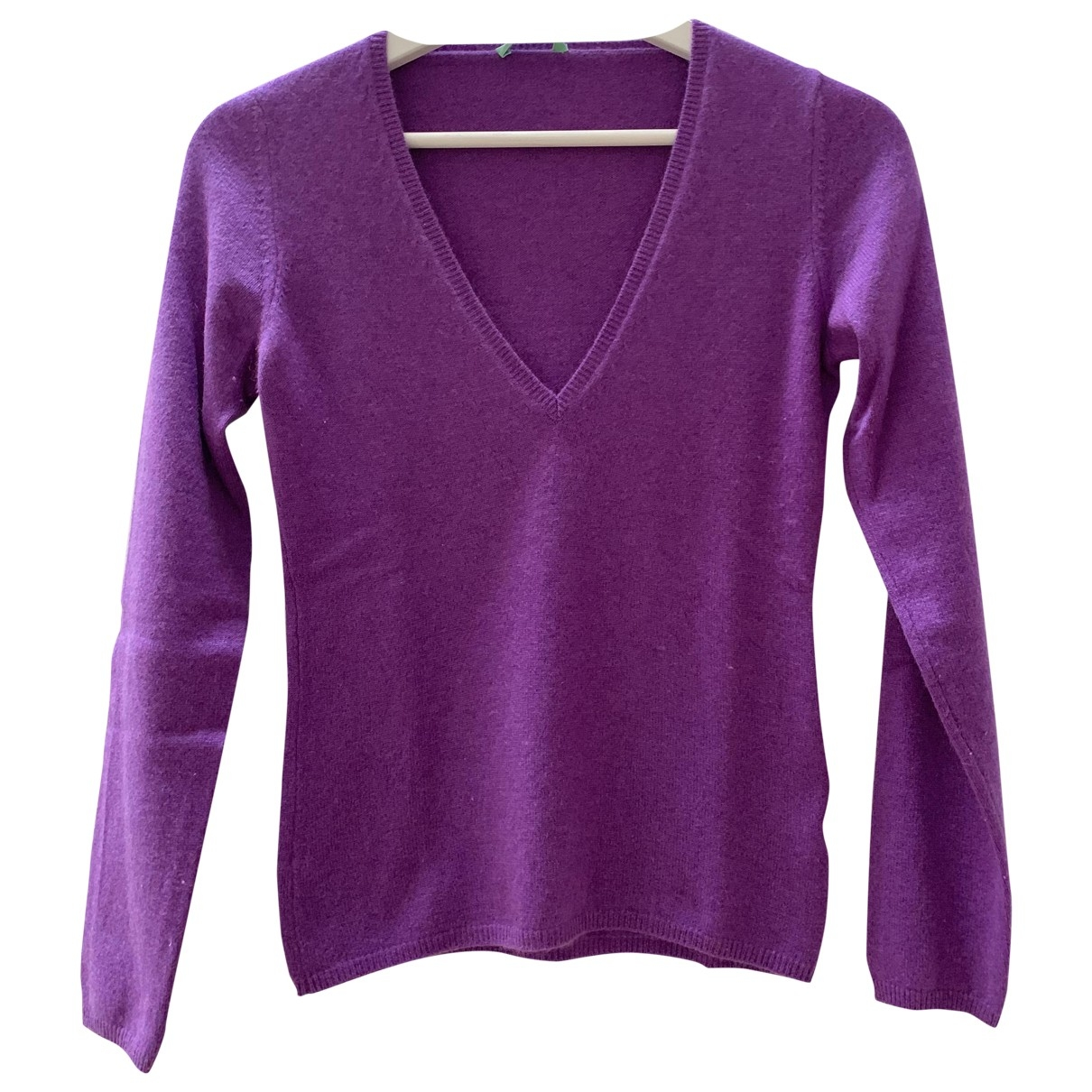Non Signé / Unsigned \N Purple Cashmere Knitwear for Women 40 IT