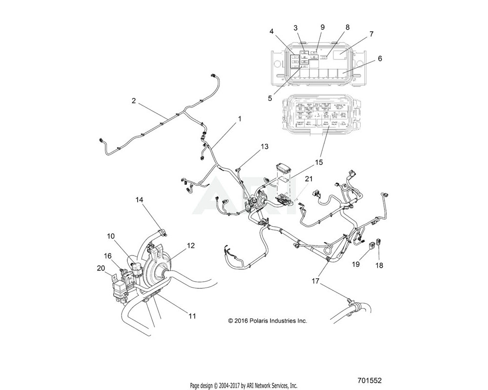 Polaris OEM 2412869 HARNESS, CHASSIS | [INCL. 3-17]